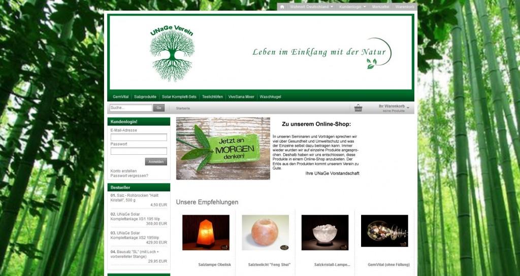 UnaGE Online-Shop
